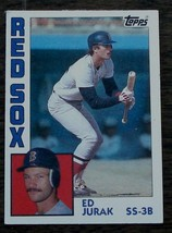 Ed Jurak, Red Sox,  1984  #628  Topps Baseball Card, VG COND - $0.99