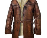 Dark Knight Rises Bane Genuine Leather Shearling Brown Ginger Trench Coat/Jacket - $1.712,36 MXN - $2.965,75 MXN