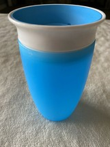 Munchkin Miracle 360 Sippy Cup Blue White Toddler Drink Cup - $7.38