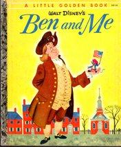Walt Disney - Ben and Me  - Little Golden Book Vintage 1954 - $10.00