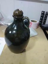 Jugtown Ware N C -Brown Mottled Stoneware Whiskey Jug - $27.55