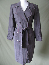 NWOT ADRIANNA PAPELL 100% SILK CAREER BUTTON DOWN SUIT JACKET DRESS 8 ME... - $39.59