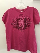 Browning Buckmark Womens MEDIUM Pink Buck T-Shirt Tee Top - $9.89