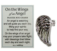 On The Wings of an Angel Zinc Prayer Box Charm w/Story Card by Ganz - $7.19