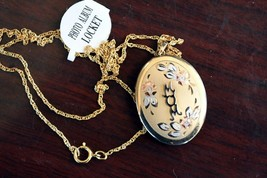 "Vintage 14kt Gold Filled Tri-Color Locket with 18"" Chain Holds 4 pictures  - $24.74"