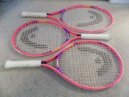 "Lot of (3) Head Instinct Junior Tennis Racquets 3 3/4"" Grip Pink--FREE SHIPPING! - $29.47"