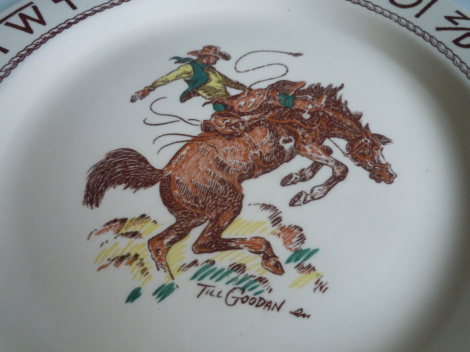 Wallace Rodeo Dinner plate ware image 2