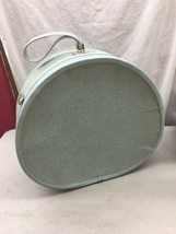 Super-Cool Vintage Samsonite Royal Traveller Blue ROUND HAT-BOX TRAIN SU... - $129.99