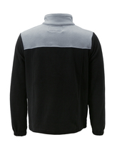 Men's Full Zip-Up Two Tone Solid Warm Polar Fleece Soft Collared Sweater Jacket image 3