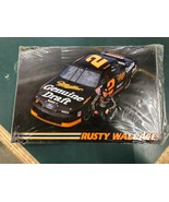 Rusty Wallace Tin Sign Printed Autograph and Car - $15.00
