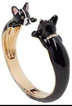 KATE SPADE Ma Chérie Antoine French Bulldog Hinged Cuff Bracelet w/ KS D... - $44.99