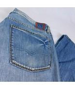 Boss Hugo Boss Men Blue Denim Jeans Button Fly Orange Label HB1 W 38 L 32 - $44.99