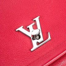 100% Authentic Louis Vuitton Red Rubis Lockme II BB Bag Receipt Mint image 8