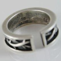 Ring aus Silber 925 Brüniert A Band mit Krone von Dornen und Größe Einstellbar image 3