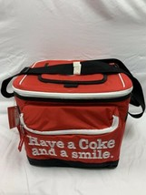 "Coca Cola Soft Sided Cooler Beach Travel ""Have A Coke And A Smile"" 18 Ca... - $24.99"