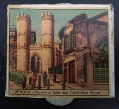 Vintage Italian Scenes Matchbook Box - Genova Italy Soprana Gate Columbu... - $12.41