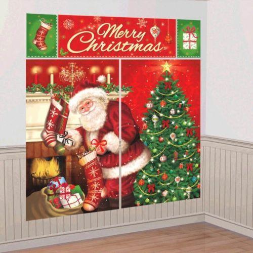 Magical Christmas Santa Scene Setters Wall Decoration Kit