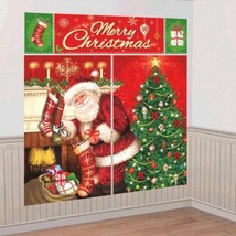 Magical Christmas Santa Scene Setters Wall Decoration Kit - $7.39
