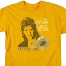 MacGyver Retro 80s action adventure TV series graphic gold t-shirt CBS1643 image 2