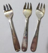 3 Vintage Antique Eales 1779 Sheffield England Hor Dourve forks silverplate - $10.00