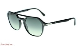 Persol Mens Sunglasses PO3206 9571 Black/Grey Gradient Dark Grey Irregul... - $189.15