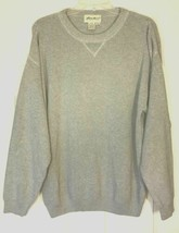 Mens Sweater Eddie Bauer Small SP Gray Crew Neck Long Sleeve 100% Cotton Warm S - $19.00