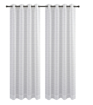 Urbanest Chamon Set of 2 Sheer Curtain Drapery Panels with Grommets image 12