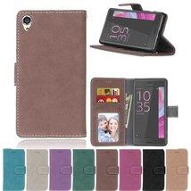 Xperia X Case,XYX [Brown][Scrub Series] PU Leather Flip Folio Kickstand ... - $4.94