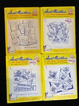 1970's Aunt Martha's Hot Iron Transfers 1-lot Of 4 Kitten Flowers Owl Bu... - $7.69