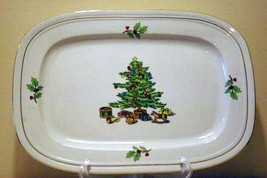 "Tienshan Holiday Hostess Oval Platter 14"" x 9 1/2"" - $13.85"