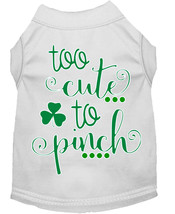 Too Cute to Pinch Screen Print Dog Shirt White Lg (14) - $11.98