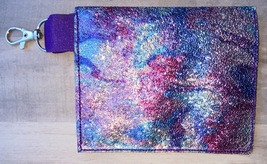 Clip on Purple Swirl Snap backback mask bag - $6.50