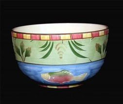 Bella FISH Timberline Heavy Thick Handpainted Lrg Mixing Serving Bowl HT... - £48.34 GBP