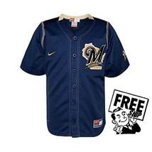 Milwaukee Brewers Baseball Officially Lic MLBNike Boys Jersey Size 7 LG ... - $19.79