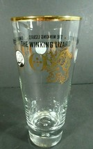 Ommegang Witte The Winking Lizard Beer Glass Gold Gilt 20 oz.  - $5.99