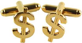 gold Dollar Sign Cufflinks design Cufflinks in gift box cuff links