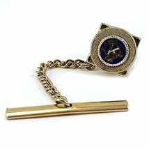 Kiwanis Club Tie Tack Vintage Business Blue Gold Tone Fraternal c148 - $8.79
