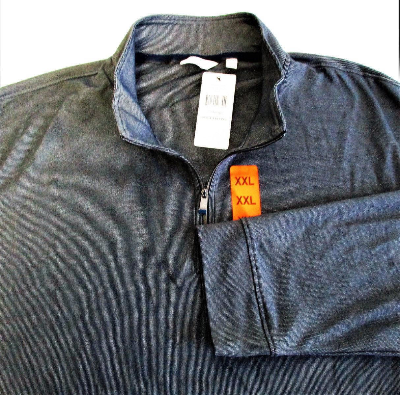 Calvin Klein Men's Quarter Zip Pullover Atlantis Size: XXL