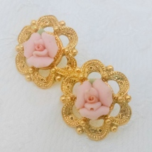 1928 Jewelry Co Vintage Estate Pink Porcelain R... - $10.00