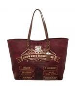 Harry Potter Hogwarts School List Oversized Tote Bag Purse - $59.95