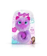 BOOTS PURPLE Pomsies Pom Pom Plush Interactive Pets Toys Brush Included NEW - $24.99