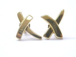 Tiffany & Co Paloma's Graffiti Yellow Gold Earrings 14mm - $608.85