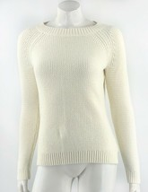 Talbots Womens Sweater Size Small Cream Ivory Lambswool Blend Pullover S... - $44.55