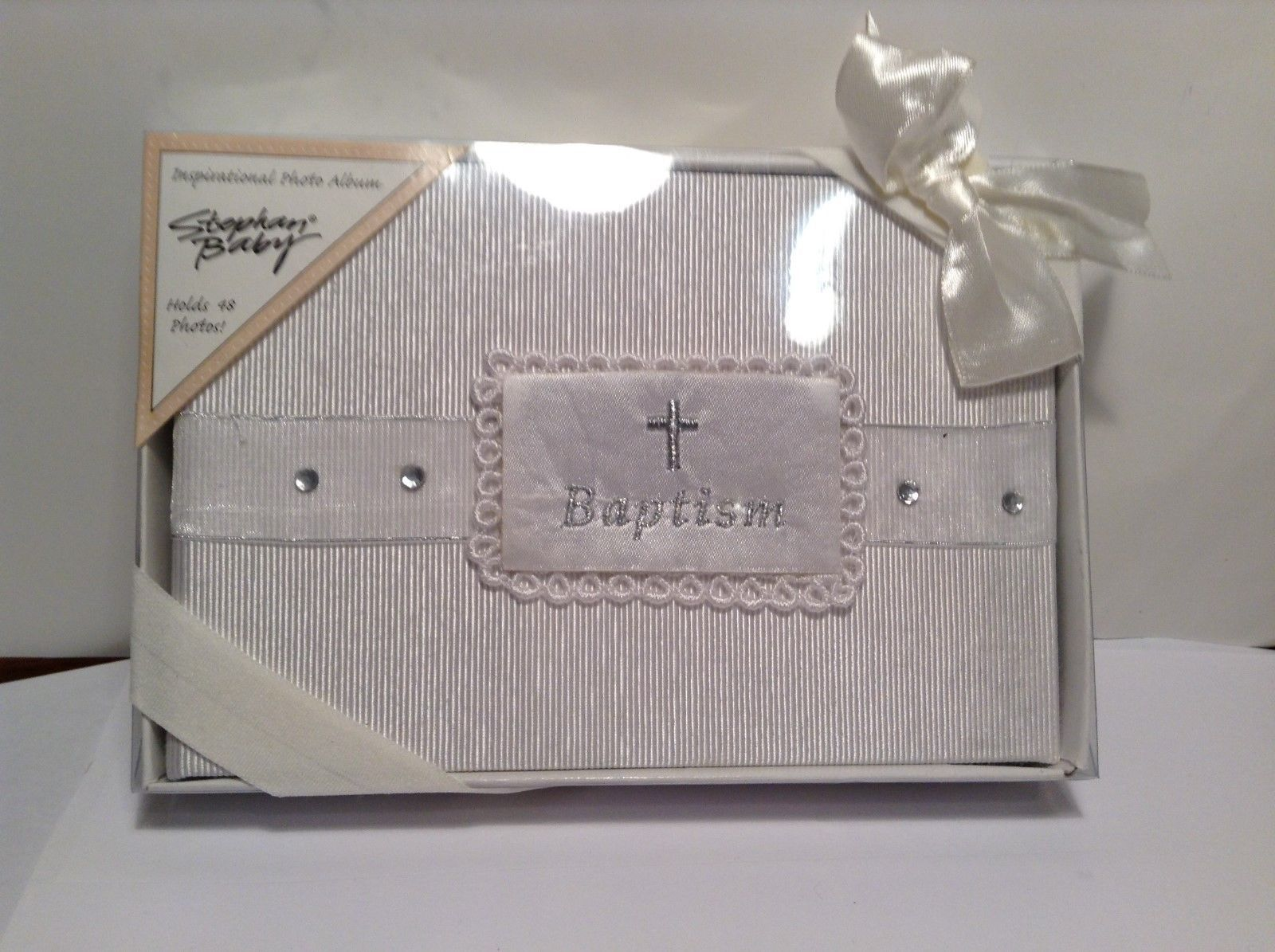NEW Stephan Baby Pearl White Baptism Photo Album