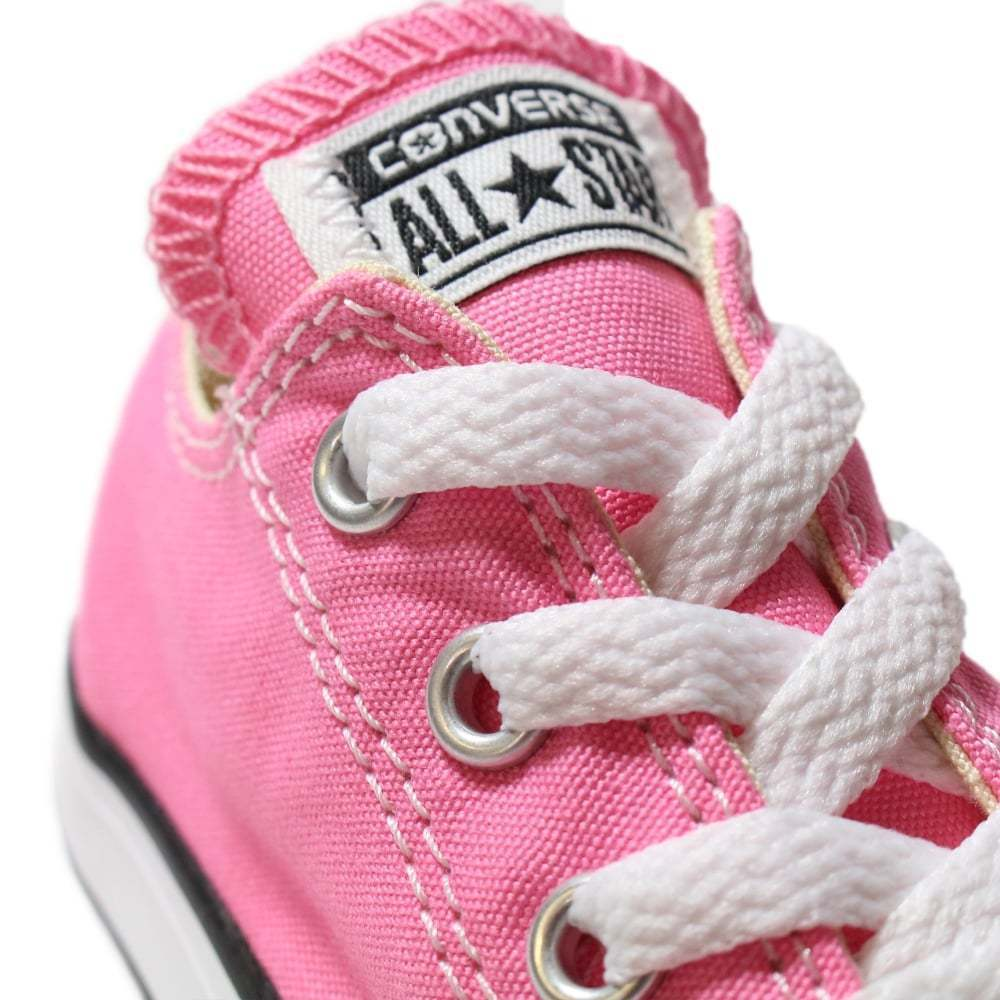 Converse All Star Chuck OX 7J238 Canvas Pink Kids Baby Toddler Shoes image 3