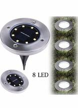 BILING Solar Power Lights 8LED Ground Buried Garden Lawn Deck Outdoor Wa... - $38.61