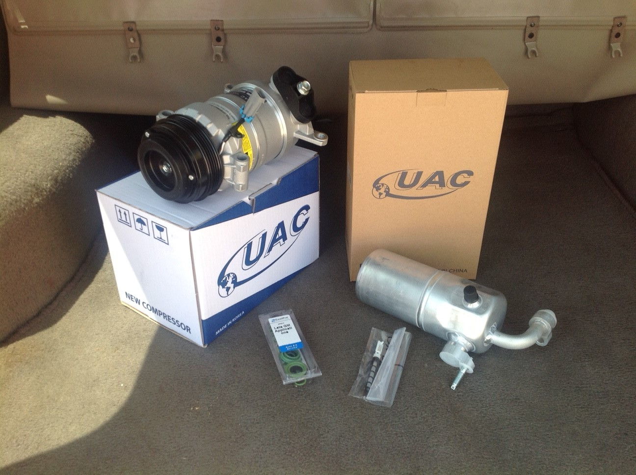 99 02 chevy silverado 4.8 5.3 ac compressor kit  2