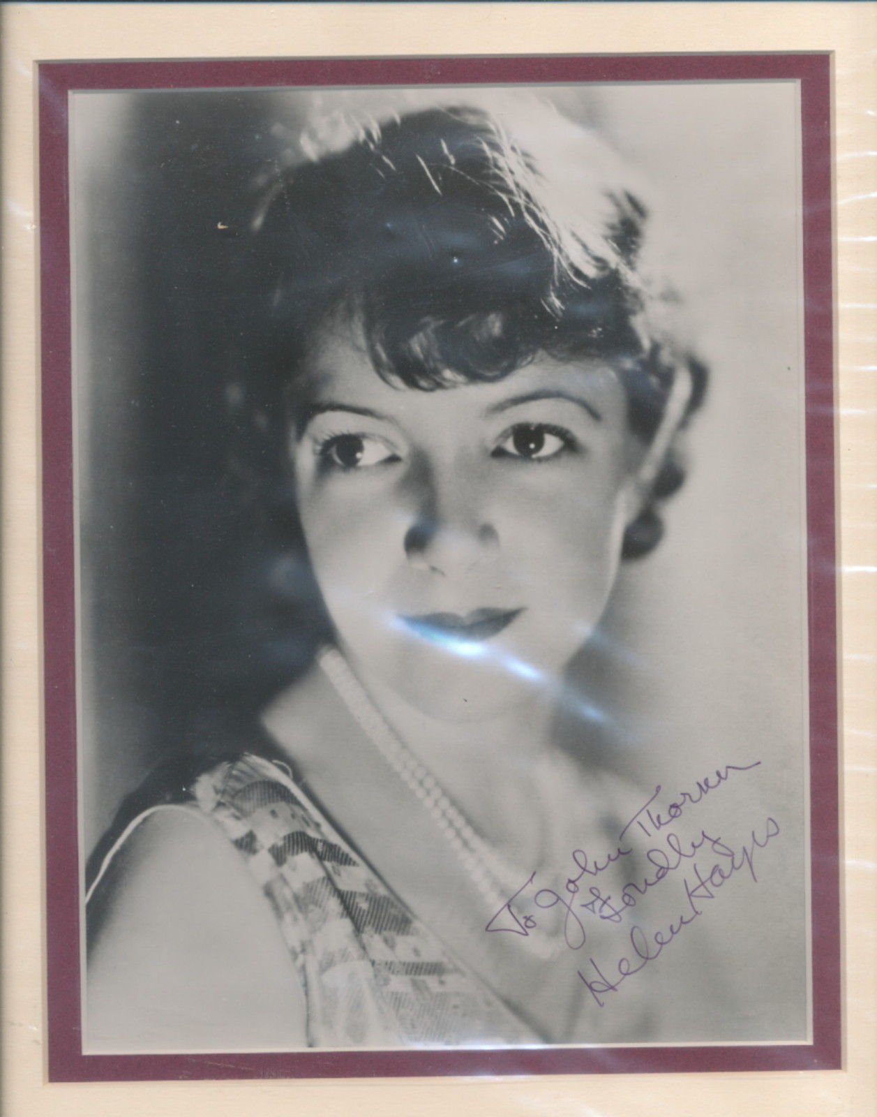 Primary image for Helen Hayes double matted signed photo. Nice!