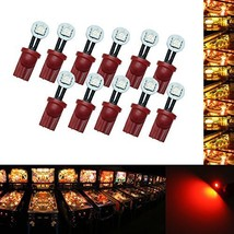 PA 10PCS #555 T10 1SMD Fold LED Wedge Pinball Machine Light Side View Bulb 6.3V
