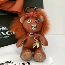 Coach Lion Bear Leather Wizard of OZ Charm Multi/Dark Gunmetal - $195.00
